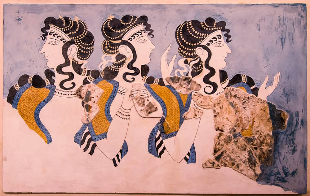 Knossos oil painting