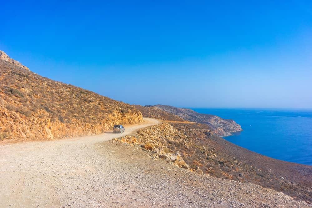 Путешествие на Балос на арендованном автомобиле